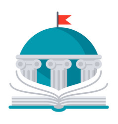books library icon vector image