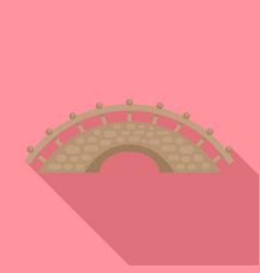 bridge building icon flat style vector image