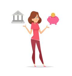 budget planning money saving problem woman vector image