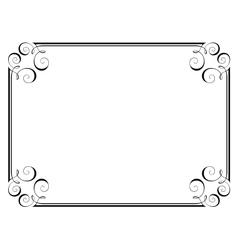 calligraphy ornamental frame vector image