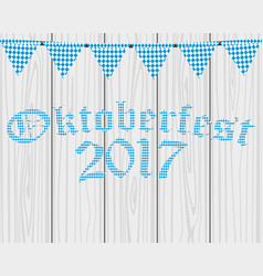 card with flags for the oktoberfest holiday vector image