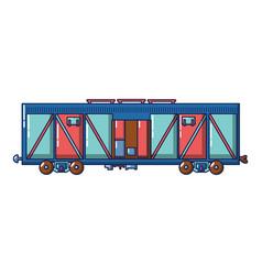 cargo train wagon icon cartoon style vector image