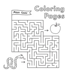 cartoon snake maze game vector image