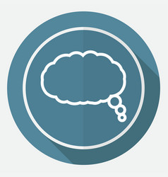cloud speech icon vector image