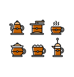 coffee shop icon set coffee sign template web or vector image
