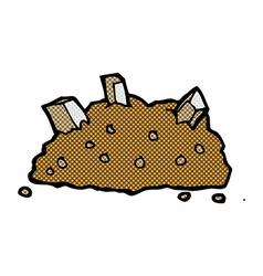 Comic cartoon pile of rubble vector
