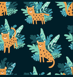 complex jungle pattern vector image