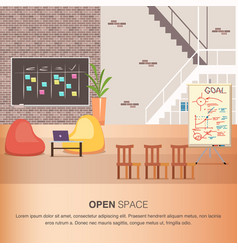 creative office coworking center cozy open space vector image