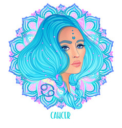 Drawing cancer astrological sign as a beautiful vector