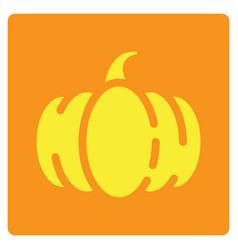 Flat color pumpkin icon vector