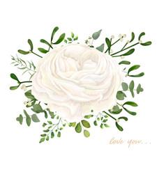 floral bouquet design garden white ranunculus vector image