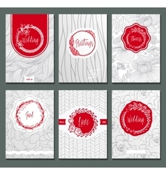 Flowers cards vector image