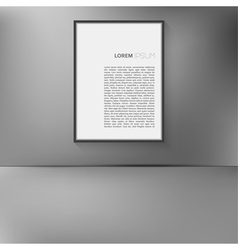 Frame hanging on the wall vector image