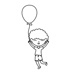 happy childrens day cute boy holding balloon vector image