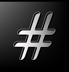Hashtag sign gray 3d printed vector