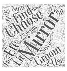 How to Choose Grooming Bathroom Accessories Word vector