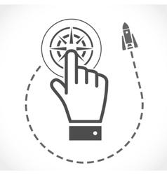 internet concept startup after click vector image