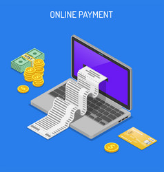 internet shopping and online payments concept vector image