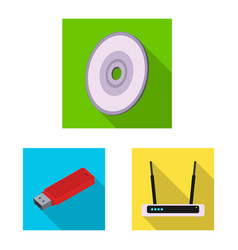 isolated object of laptop and device icon set of vector image