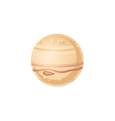 Jupiter in flat style - of vector