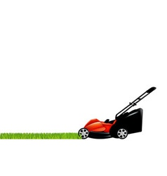 lawnmower and grass vector image