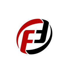 letter pf fd ff modern vector image