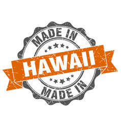 made in hawaii round seal vector image