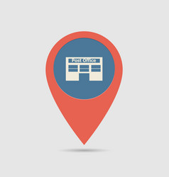 Map pin post office vector