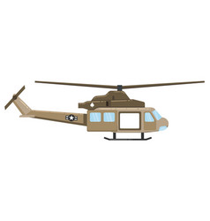 military helicopter hawk flat render air vector image
