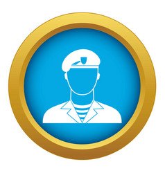 Modern army soldier icon blue isolated vector