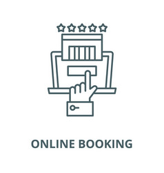 online booking line icon linear concept vector image