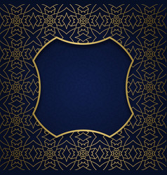 Ornamental background with square shaped frame vector