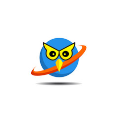 owl bird logo bird head icon education symbol vector image