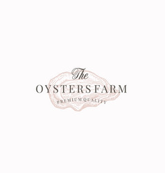 Oysters farm abstract sign symbol vector