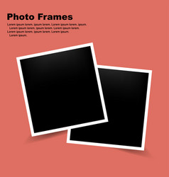 photo frame on a trendy color frame with shadow vector image