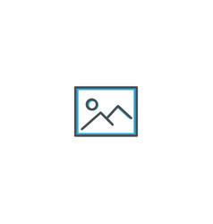 picture icon design essential icon vector image