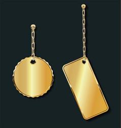 promo empty sale golden labels on golden vector image