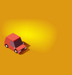 red personal car transportation or traveling vector image