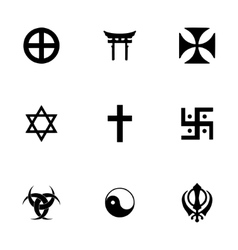 religious symbols icon set vector image