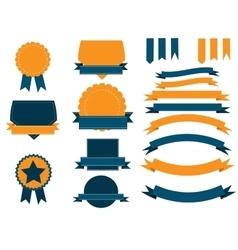 Ribbons and shield banners set vector image