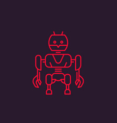robot linear style vector image