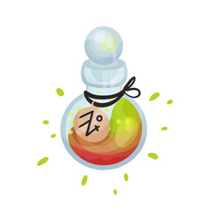 Round bottle with a potion on vector