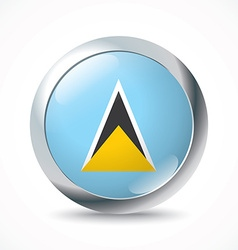 Saint Lucia flag button vector image