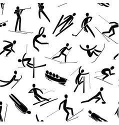 seamless abstract background pattern winter sport vector image