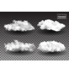 Set of Fluffy white clouds Realistic design vector image vector image