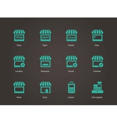 Shop icons vector