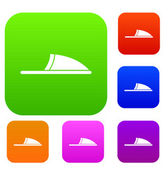 Slippers set collection vector
