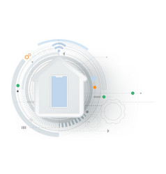 Smart home technology controlling futuristic vector