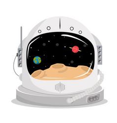 Space helmet concept vector