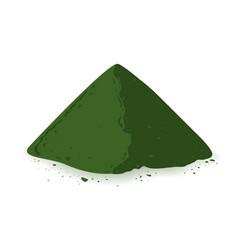 spirulina chlorophyll or chlorella powder and vector image